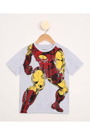 Marvel Camiseta Infantil Manga Curta Homem de Ferro Mescla