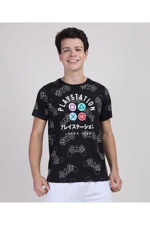 Playstation 3 Menino Manga Curta - Camiseta Juvenil Manga Curta Preta