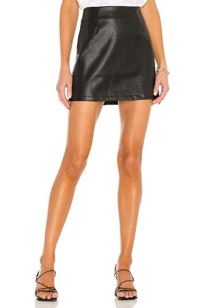 LBLC The Label Abby Vegan Leather Mini Skirt in . - size L (also in M, S, XS)