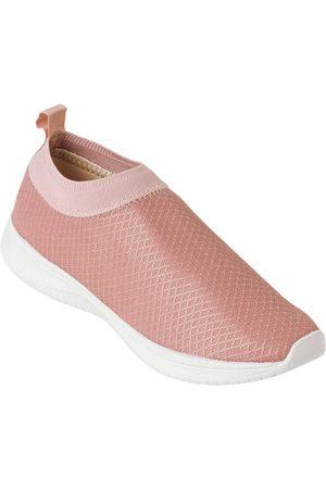 Perfecta Mulher Sapatos Esporte - Tênis Rosê em Tecido com Elástico