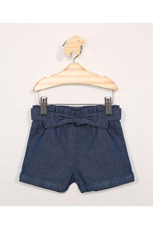 BABY CLUB Short Jeans Infantil Clochard com Bolsos Escuro
