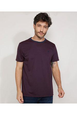 ANGELO LITRICO Camiseta Masculina Manga Curta Maquinetada Gola Careca
