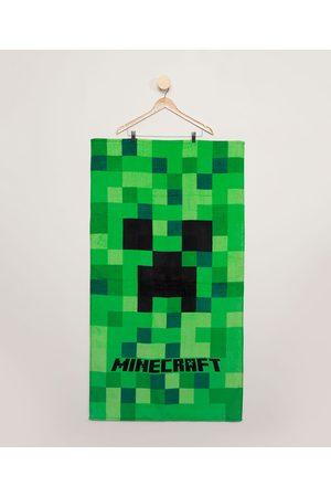 Minecraft Toalha Infantil Verde