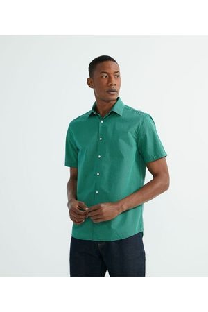 Preston Field Camisa Manga Curta Xadrez Grid | | Verde | 05