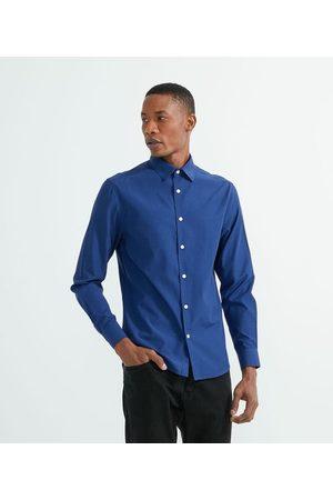 Preston Field Camisa Manga Longa Xadrez     Azul   M
