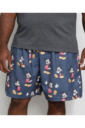 Disney Short Masculino Plus Size Mickey Chumbo