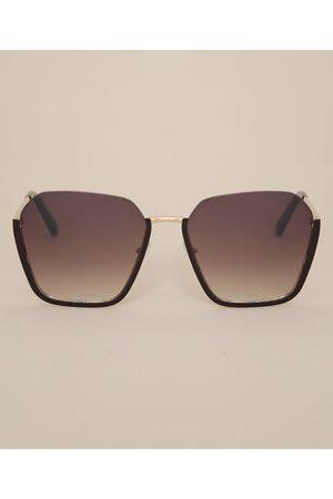 YESSICA Óculos de Sol Feminino Geométrico