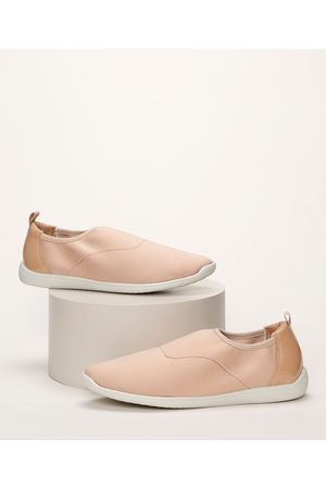 Malù Mulher Sapatos - Tênis Feminino Knit com Recorte Verniz