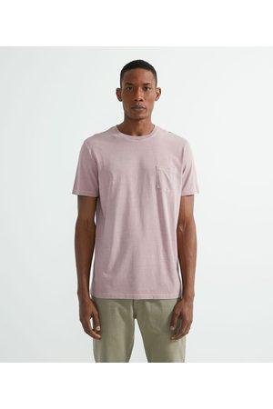 Marfinno Camiseta Regular Fit Lavada com Bolso       EGG