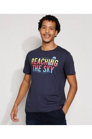 "Suncoast Homem Manga Curta - Camiseta Masculina Manga Curta Reaching The Sky"" Gola Careca """