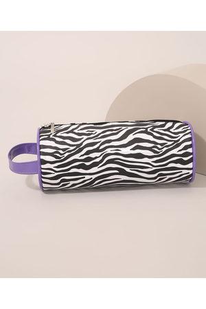 C&A Mulher Necessaire - Nécessaire Feminina Estampada Animal Print Tigre Preta