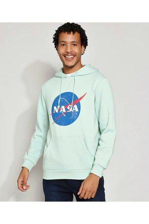 Nasa Homem Moletom - Blusa de Moletom Masculina com Capuz e Bolso Canguru Claro