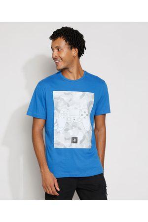 Playstation 3 Homem Manga Curta - Camiseta Masculina Manga Curta Gola Careca