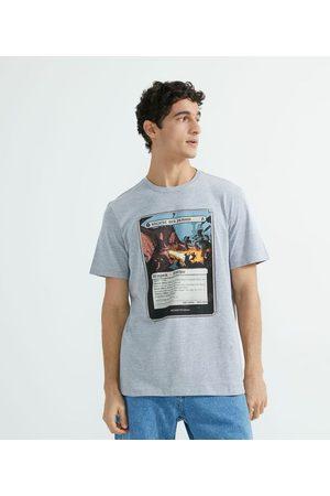 Blue Steel Camiseta Manga Curta Estampa Carta RPG       G