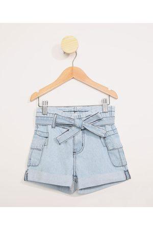 PALOMINO Menina Bermuda - Short Jeans Infantil Clochard com Bolsos Claro