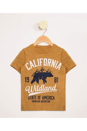 "PALOMINO Camiseta Infantil Manga Curta Califórnia"" Mostarda"""