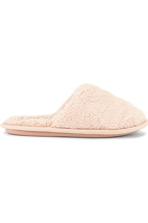 Flora Nikrooz Mocassim & Slippers - Victoria Teddy Slippers in Pink. - size L (also in L(41-43), S(35-37))
