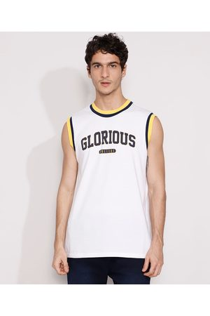 "Clockhouse Regata Masculina Glorious"" Gola Careca Branca"""
