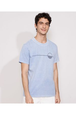Suncoast Homem Manga Curta - Camiseta Masculina Manga Curta Sol Gola Careca Claro