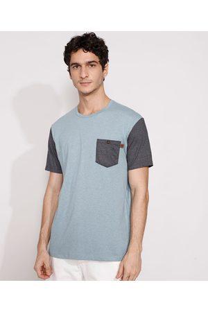 Suncoast Homem Manga Curta - Camiseta Masculina Manga Curta com Bolso Gola Careca