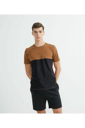 Request Camiseta Manga Curta em Algodão Bicolor | | | GG