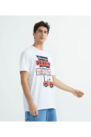 Snoopy Camiseta Manga Curta com Estampa | | | GG