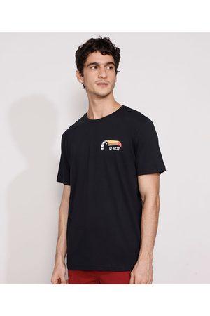 Suncoast Homem Manga Curta - Camiseta Masculina Manga Curta Tucano Gola Careca Preta