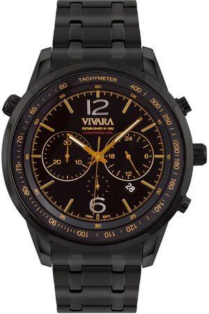 Vivara Homem Relógios - Relógio Masculino Aço Preto - DS13737R0B-1