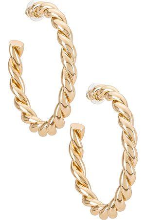 Dannijo Naomi Earrings in Metallic .