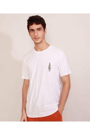 Suncoast Camiseta Masculina Manga Curta Pranchas de Surf Califórnia Gola Careca Branca