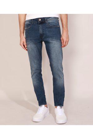 Clockhouse Homem Calça Skinny - Calça Jeans Masculina Skinny Escuro