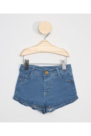 BABY CLUB Menina Bermuda - Short Jeans Infantil com Bolso de Coração Médio