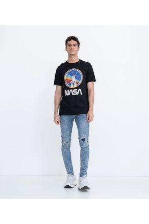 Nasa Homem Manga Curta - Camiseta Manga Curta com Estampa | | | G