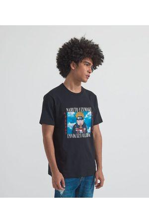 Blue Steel Homem Manga Curta - Camiseta com Estampa Naruto | | | GG
