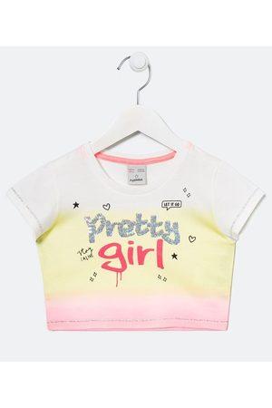 Fuzarka Criança Cropped - Blusa Infantil Fit Cropped com Fundo em Tie Dye e Estampa em Lettering - Tam 5 a 14 anos | | Multicores | 7-8
