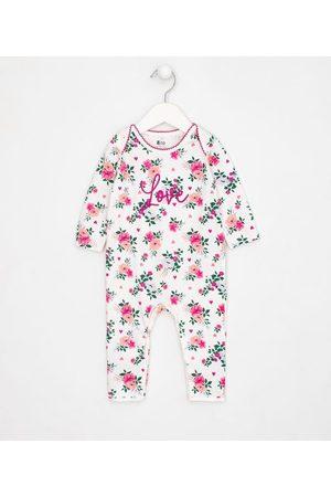 Teddy Boom (0 a 18 meses) Macacao Infantil com Pé Estampa Floral - Tam RN a 18 meses | | | RN