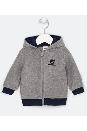 Teddy Boom (0 a 18 meses) Criança Casacos - Casaco Infantil com Capuz em Fleece Bordado Ursinho - Tam 0 a 18 meses | | | 3-6M