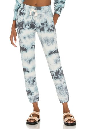 NSF Sayde Slouchy Slim Sweatpant in Blue. - size L (also in M, S, XS)