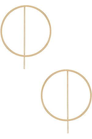 8 Other Reasons Lights Out Hoop Earrings in Metallic .