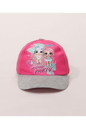 LOL Surprise Menina Chapéus - Boné Infantil Aba Curva LOL com Brilho