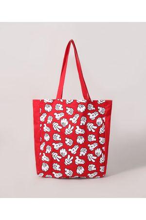 Disney Mulher Mochila - Ecobag Feminina Estampada Mickey Vermelha