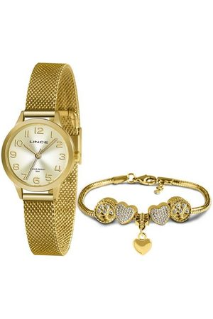 Lince Kit Relógio Feminino Lrgh146l Ky40c2kx Analógico 50M + Semijoia | | | U