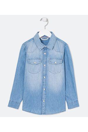 Fuzarka Camisa Infantil Jeans Lisa - Tam 5 a 14 anos | | | 5-6