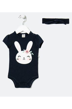 Teddy Boom (0 a 18 meses) Body Infantil em Cotton com Faixa de Cabelo Estampa Coelhinho - Tam 0 a 18 meses | | | 12-18M