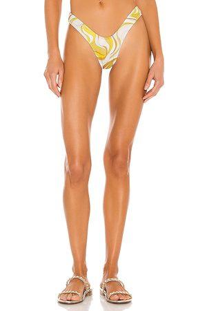 Monica Hansen Beachwear Vintage Chic Bikini Bottom in Yellow. - size L (also in M, S, XS)