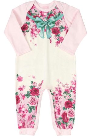 Quimby Macacão Infantil Flores