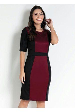 ROSALIE Vestido com Recortes Bordô/ Moda Evangélica
