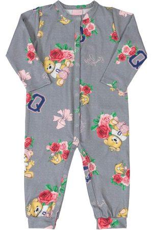 Quimby Menina Macacão - Macacão Infantil Flores