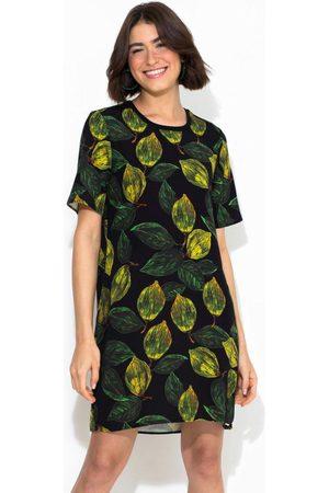 Colcci Mulher Vestido Estampado - T-Shirt Dress Estampado