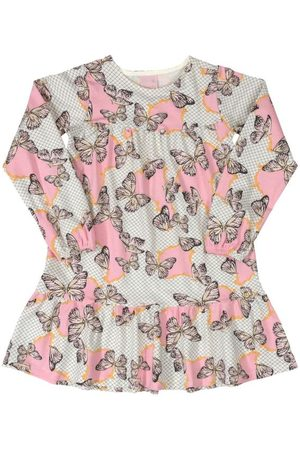 Quimby Vestido Infantil Borboletas